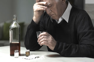 Man with alcohol health problems